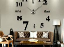 Large 3D Design Wall Clock Luxury Mirror Home Decoration DIY Bedroom
