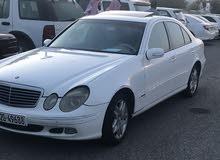 للبيع مرسيدس موديل 2003 اللون ابيض E240