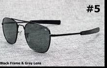 نظارة طيارين لون اسود جديد