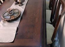 طاولة سفره 8كراسي مع فضيه