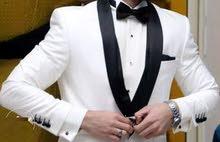 بدلة عريس جاكت أبيض
