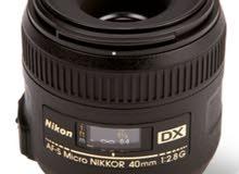 Nikon 40mm f2.8 macro عدسة ماكرو