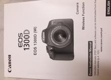 CANON EOS 1300D. 18 -55mm lense.For immediate sale