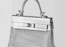 best silver metal luxur bag