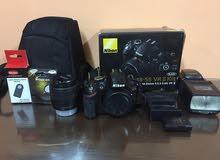 camera nikon d3200 +lense 18-55 كاميرا نيكون + عدسة 18-55