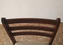 طاولة سفرة خشب زان مع 4 كراسي زان