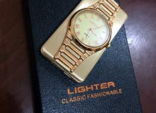 Quartz Fashion Metal Watch USB Flameless Windproof Electronic Cigarette Lighter