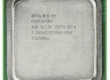 معالج بنتيوم 4 + رام 1 قيقا ddr2 667 mhz + رام 1 قيقا ddr3 1333 mhz