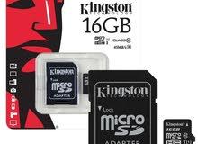 ذاكرة kingston 16G ( كفالة مدة عام)