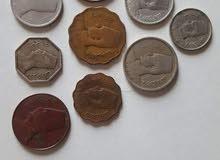 عدد عشر عملات الملك فؤاد الأول و الملك فاروق الأول المعدنيه
