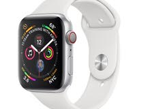 Apple Watch Series 4 Silver Aluminum Case with White Sport Band with Apple Care