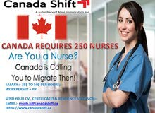 REQUIRED 250 NOS NURSES FOR CANADA