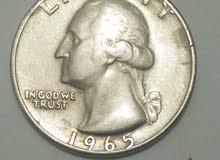عملة أمريكية قديمة ترجع  لسنة 1965 للبيع