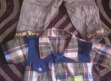 طقم بنطلون وقميص اطفال مقاس سنتين لسه جديد