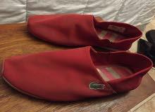 جزمات لاكوست أحمر Red Lacoste Shoes