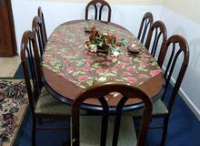 طاولة سفرة حجم كبير 8 مقاعد + كوندشن حامي وبارد 2 طن نوع كونكورد