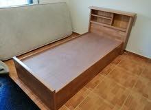 سرير تخت تفصيل خشب زان ولاتيه 18