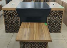 طقم مكاتب خشبية ادارية مع سكرتارية وادراج