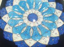 hand painted enamel minakari plate