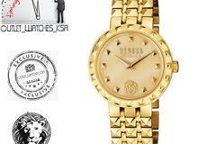 ساعة فيرسيس فيرساتشي نسائي ذهبي مميزة اصلية موديل جديد مع الضمان