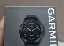 Garmin smartwatch fenix 6 sapphire GRay DLC with black band