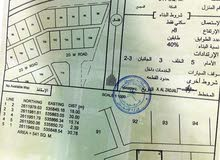 ارض على الخط الأول بمنطقة المعيدن / الحوقين / ولاية الرستاق