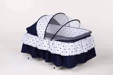 سرير اطفال شبه جديد استعمال شهر من الولاده للتسعه اشهر