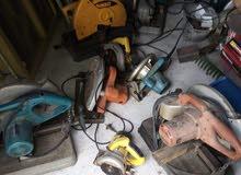 آلات قص حديد وخشب