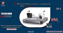 Discount 15% on  4 HD Hikvision Surveillance Cameras  5 megapixels