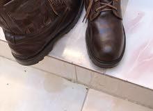 سفتي ماركه هامر اورجنال مقاس44/43ورد امريكا اتلبس مرتين فقط جلد طبيعي شكله شيك