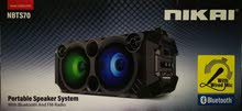 نيكاي مكبر صوت. Portable Speaker System with Bluetooth and FM Radio