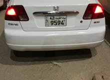 Used condition Honda Civic 2001 with +200,000 km mileage