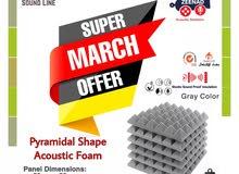 عرض خاص فوم عازل للصوت مستورد شكل الهرمي Acoustic Foam Zeenad