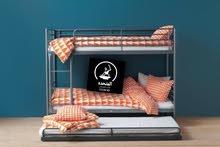 سرير حديد مودرن بدورين لاستغلال المساحه وقوي جداً