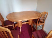 سفرة و 4 كراسي  Dining table with four chairs 25kd