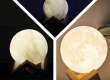 تيبلم شكل قمر مضيء (شحن )يدوم لفتره ساعات ويعمل بلونين ابيض وشمسي السعر 10000
