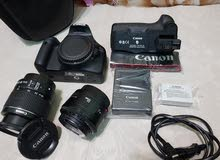 canon 550D with 2 lenses