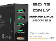 شاحن USB شحن سريع لجميع الاجهزة الذكية