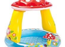 بركة سباحة للأطفال  Intex Mushroom Sunshade Baby Pool عرض خاص - سعر جملة