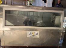 ماكينة دجاج محمر وثلاجة عرض  ماكينة عصر البيع جملة