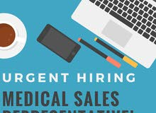 URGENT HIRING MEDICAL SALES REPRESENTATIVE