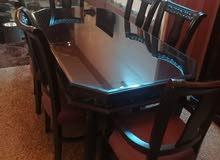 طاولة سفرة 6 كراسي خشب زان