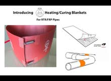 حزام حراري Heating blanket for  GRE/ GRP pipe
