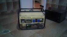 مولد بنزين 3 كيلو لف نحاس امديرله صيانة تمام نوعية الاول يتحمل كهرباء زيادة لم