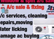 SPLIT AND WINDOW A/C SALE AND FIXING, SERVICE, REPAIR AVAILABLE