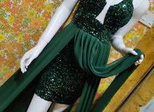 فستان ترتر قطيفه على شيفون  جديد للجمله فقط