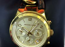 Beautiful animal print / gold Michael Kors watch