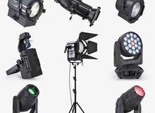 أجهزة إضاءة كاملة للحفلات بحالة جيدة جدا وبأسعار مغرية للبيع