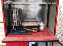 كشك شاي للبيع (جنبر شاي ) كامل مع سماور وطباخ