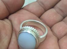 خاتم العقيق الأبيض اليماني